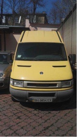 Автомобіль IVECО 35S13, загальний вантажний фургон, колір жовтий, державний номер ВН0854ЕХ, 2001 року випуску, номер кузова ZCFC3590005356034, об'єм двигуна 2,8. Основні засоби в кількості 4 шт.