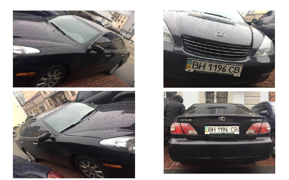 Автомобіль Lexus ES300, легковий седан, чорний, номер державної реєстрації ВН1196СВ, 2004 р.в., номер кузова JTHBF30G746029048, об'єм двигуна 2995