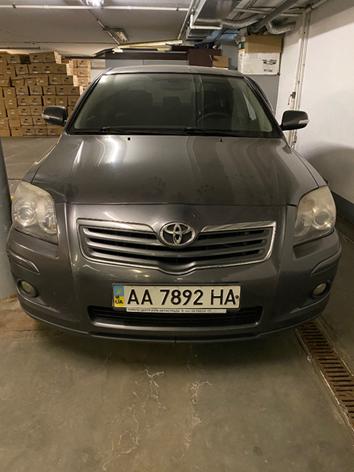 Автомобіль TOYOTA AVENSIS, 2008 рік випуску, об`єм двигуна 1794 см.куб., номер шасі SB1BR56L70E229022, реєстраційний номер АА7892НА та основні засоби у кількості 14 одиниць