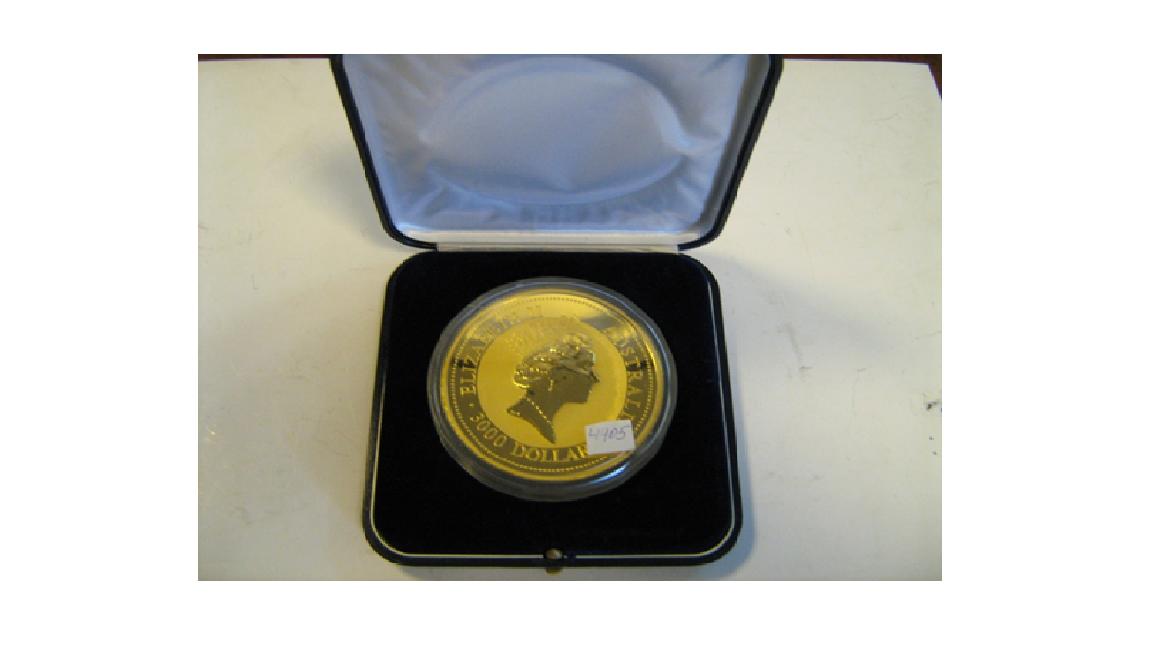 Колекційна монета «3000 доларів», Австралія, 1994 р., золото 999°, 1000 г, інв.№4405