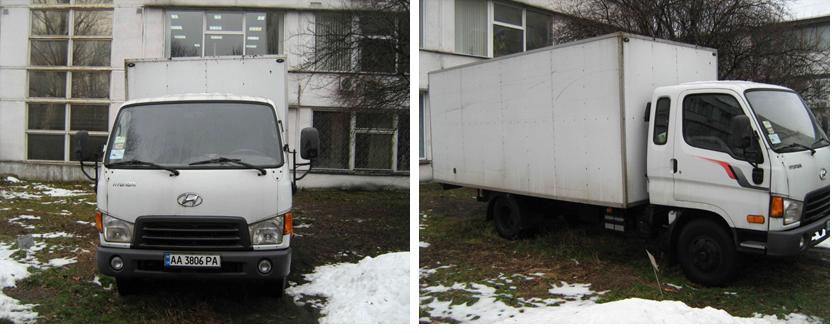 Спеціалізований вантажний фургон HYUNDAI HD78, 2007 року, номер кузова KMFGA17ВР7C069396, номер державної реєстрації № АА3806РА, інв.№34296