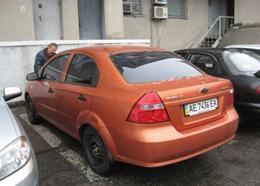Легковий автомобіль CHEVROLET AVEO SF69Y, рік випуску 2007, номер шасі, кузова KL1SF69YE7B138062, номер державної реєстрації АЕ7436ЕА