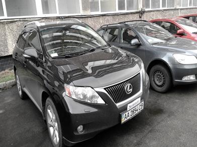 Легковий автомобіль Lexus NG RX 350 Executive 3.5 (№ шасі (кузова) JTJBK11A302013732, 2010р., АА 2854 СВ)
