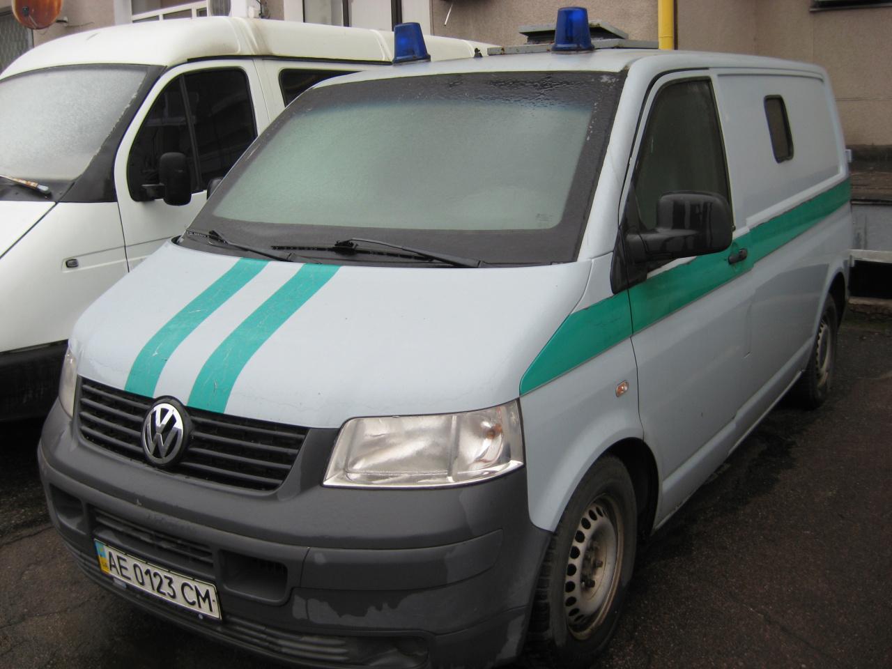 Фургон малотонажний VOLKSWAGEN TRANSPORTER, рік випуску – 2008, номер шасі, кузова WV1ZZZ7HZ8H161924, номер державної реєстрації АЕ0123СМ