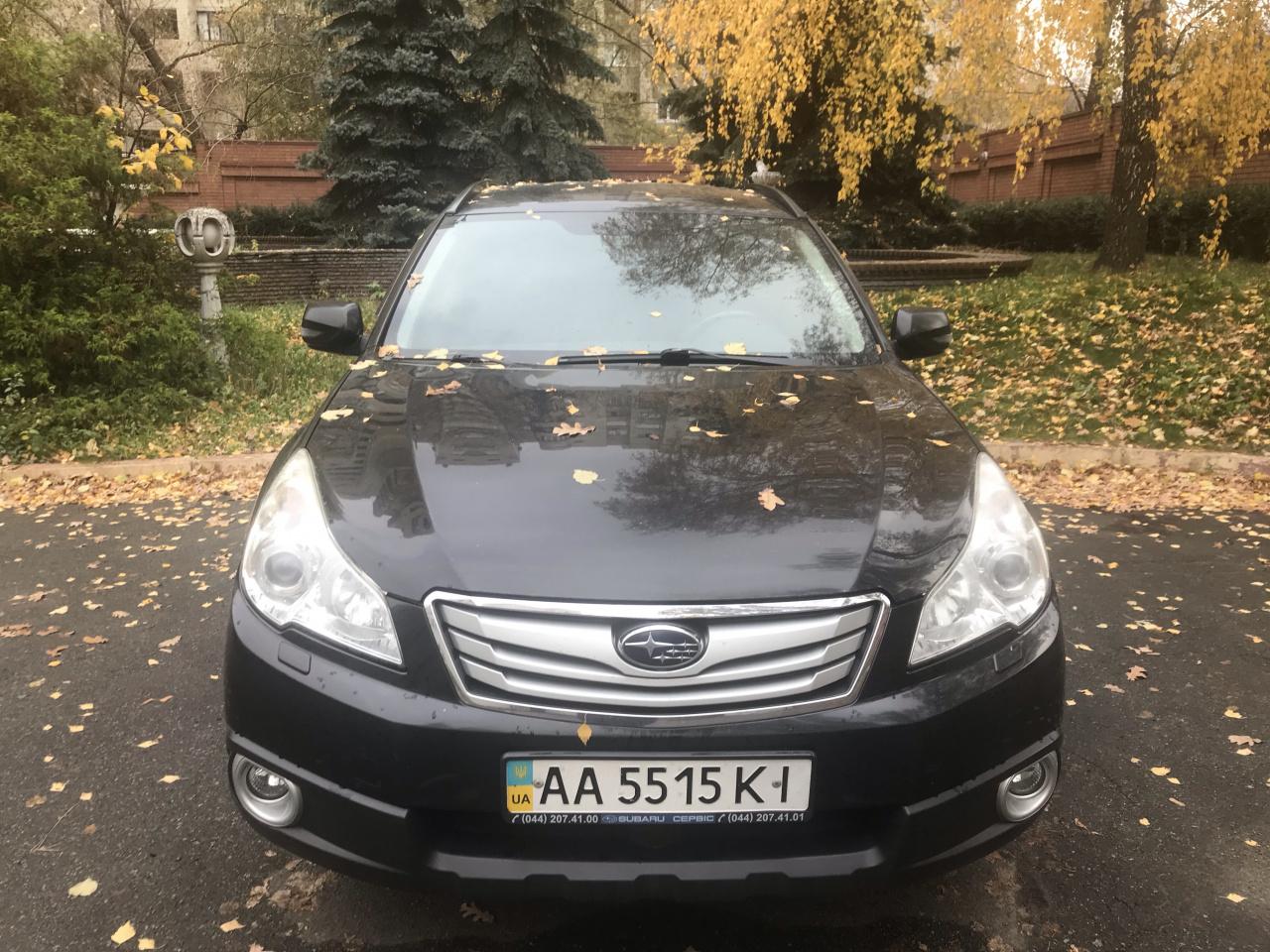 Автомобіль легковий Subaru Outback, Універсал-В, рік випуску 2011, JF1BR9L95BG069098, об`єм двигуна 2457, державний номер AA 5515 КІ